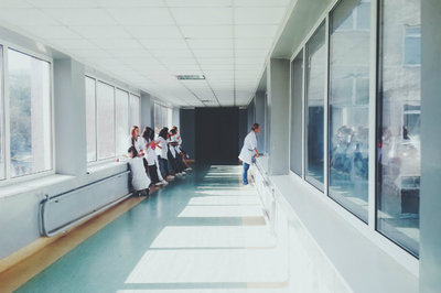 oncology EHR - hospital corridor